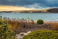 Дюна в осени, Neringa Parnidis, Литва Стоковое Изображение