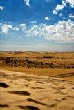 Дюна в пустыне Сахары Стоковые Фотографии RF