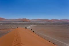 Дюна 45 в sossusvlei Намибии Стоковое фото RF