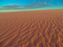 Дюна захода солнца Стоковые Изображения RF