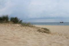 Дюна на пляже, Балтийское море, Польша Стоковое фото RF