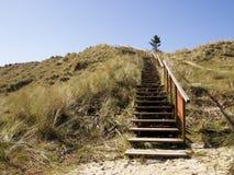 Дюна с лестницами Стоковое Изображение