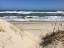 Дюна Sandy на пляже стоковое изображение