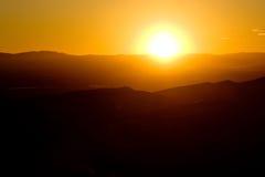дюны большие над заходом солнца песка Стоковая Фотография RF