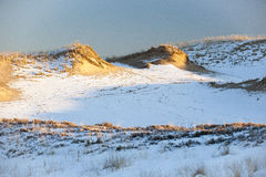 Дюны в зиме Стоковые Изображения RF