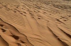 Дюны в пустыне, Дубай Стоковые Фото