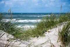Дюны и море Стоковые Фотографии RF