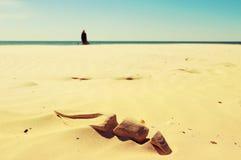 Дюны и пляж и море Стоковые Изображения