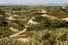Дюны и Север-Море [Нидерланды] Стоковые Изображения RF