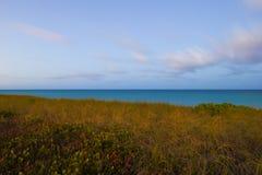 Дюны и цвета океана живые Стоковое Изображение