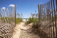 Дюны к пляжу стоковые изображения