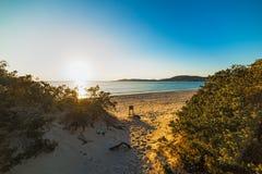 Дюны на заходе солнца Стоковые Изображения RF
