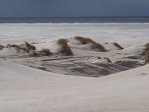 Дюны на пляже от amrum острова Стоковые Изображения RF