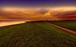 Дюны на Северном море в Голландии Стоковое Фото