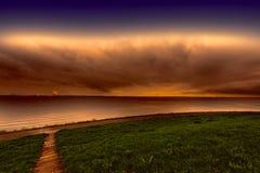 Дюны на Северном море в Голландии Стоковое Изображение RF