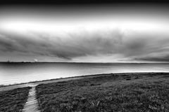 Дюны на Северном море в Голландии Стоковая Фотография