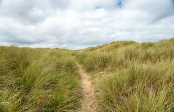 Дюны на Winterton на море Стоковое Фото