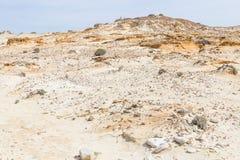 Дюны, песок и утесы в Zambujeira повреждают Стоковые Фото