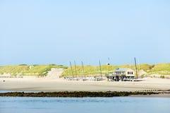 дюны пляжа голландские стоковое изображение