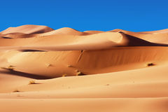 дюны пустыни морокканские Стоковые Фотографии RF