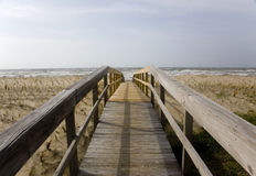 дюны crosswalk Стоковое Изображение