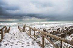 Дюны Guardamar, Аликанте, Испания Стоковое Фото