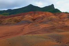 Дюны Sandy в Chamarel Маврикий Стоковые Изображения RF