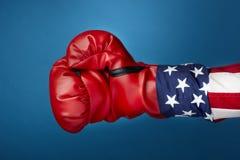 дядюшка sam перчаток бокса Стоковое Изображение RF