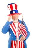 дядюшка sam салютов флага америки Стоковые Фотографии RF