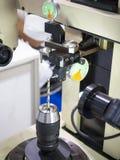 Длина инструмента измерения машиной preset инструмента Стоковая Фотография RF