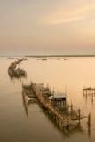Длинная деревня рыболова Стоковые Изображения