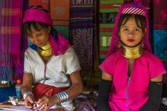 Длинная женщина шеи в Таиланде Стоковые Изображения