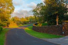 Длинная извилистая дорога Стоковое Изображение