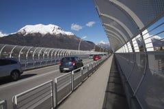 Новый мост Alpini s в Беллуно Стоковое фото RF