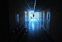 Длинний коридор в больнице Стоковое фото RF