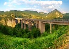 Длинний мост над рекой Тары Стоковое Изображение RF