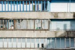 Длинные винтажные балконы города Стоковое Изображение RF