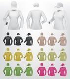 Длинные женщины рукава прикрывают шаблон футболки и крышки бесплатная иллюстрация