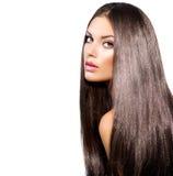 Длинные здоровые прямые волосы стоковая фотография rf