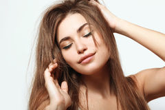 Длинные и естественные волосы Стоковое Изображение RF