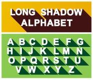 Длинный алфавит тени вектор Стоковое Изображение