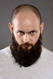 Длинный битник бороды и усика Стоковое Фото