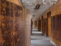 Длинный коридор внутри транс--Allegheny сумасшедшего дома Стоковая Фотография