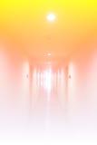 Длинный коридор в гостинице Стоковое Фото