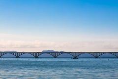 Длинный мост моря в Samana, Доминиканской Республике стоковая фотография rf