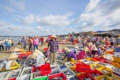 Длинный рыбный базар Hai на пляже Стоковое фото RF