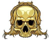 Длинный череп волос Стоковые Фотографии RF