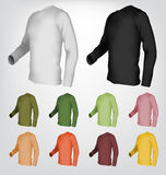 Длинный шаблон футболки рукава иллюстрация вектора