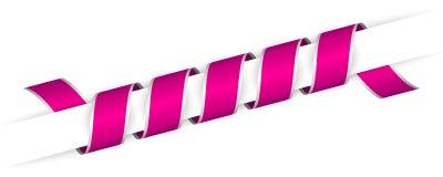 Длинным розовым лента переплетенная рождеством иллюстрация штока