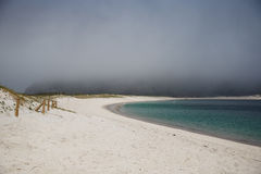 Длиной пошлите пляж, атлантические острова национальный парк, Испанию стоковые изображения